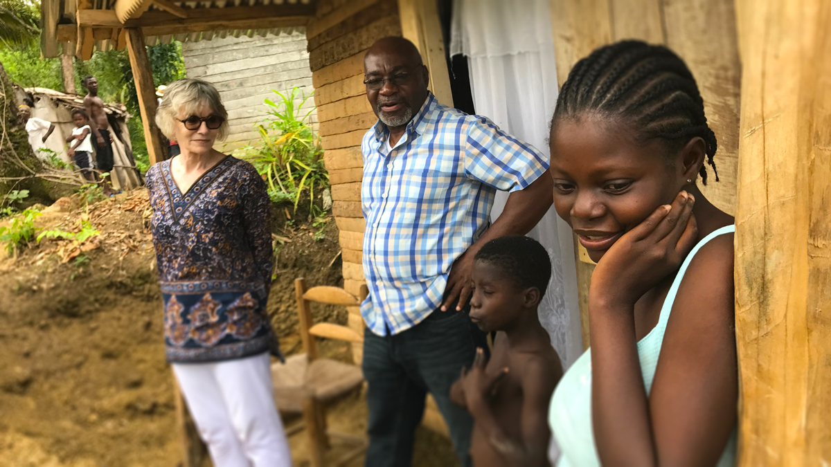 Diane Goldin visits colleagues from Fonkoze in Central Haiti.