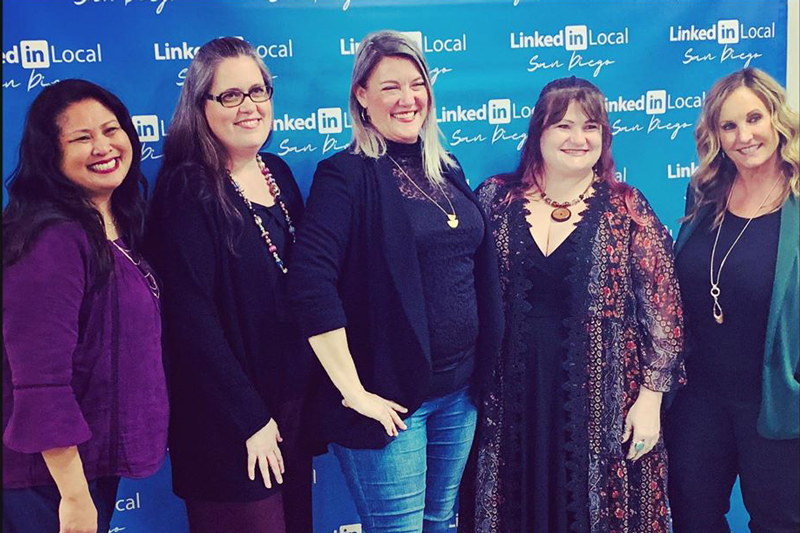 Cynthia supporting Women in Business at the #linkedinlocalsd kick off 2020 event in San Diego hosted on January 31, 2020.
